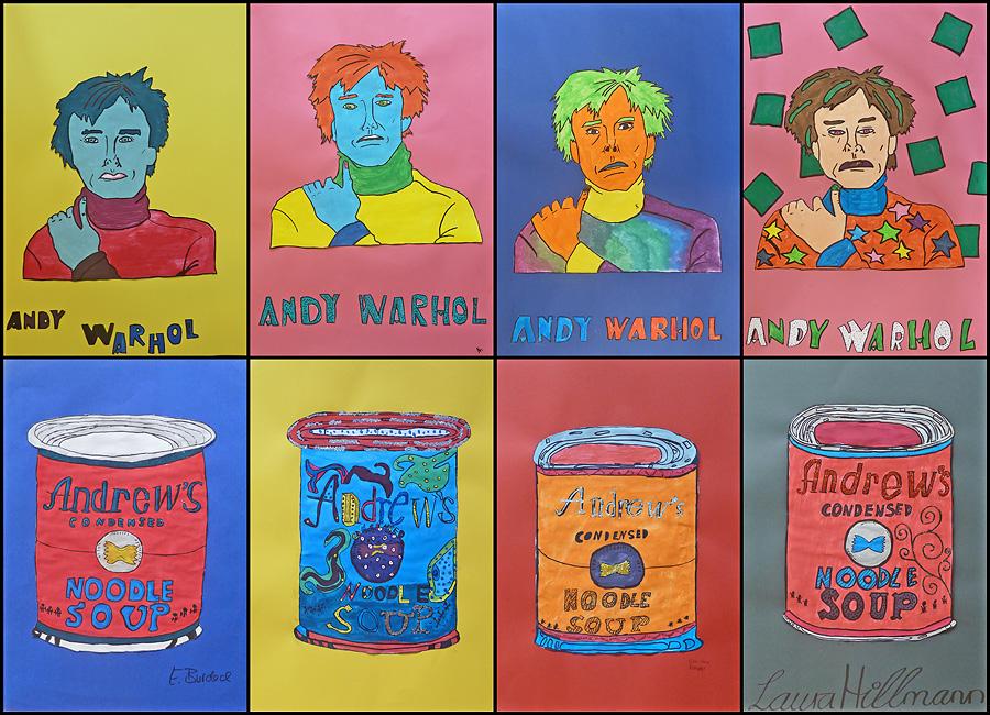 er meinte jeder mensch sollte 15 minuten im leben berhmt sein sein bekanntestes kunstwerk war die tomato soup laura klasse 6c - Andy Warhol Lebenslauf