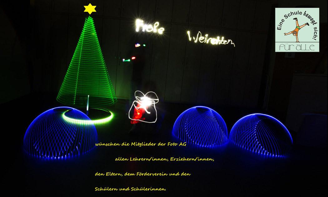 Weihnachtsgrüße Grundschule.Leuchtende Weihnachtsgrüße Unserer Neuen Foto Ag Gerhart Hauptmann