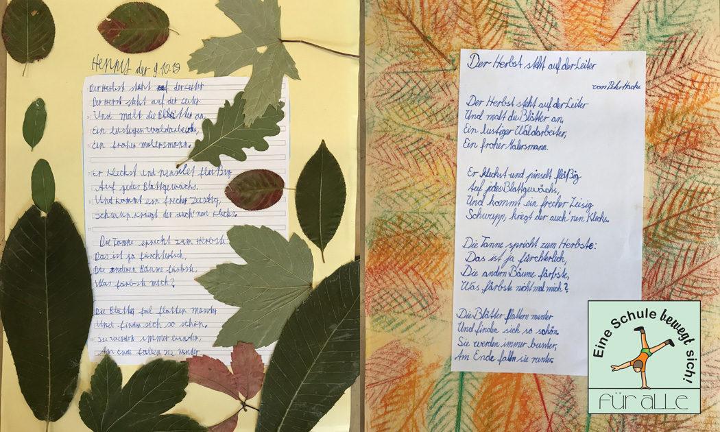 Auf leiter herbst gedicht steht der der Herbst Gedicht